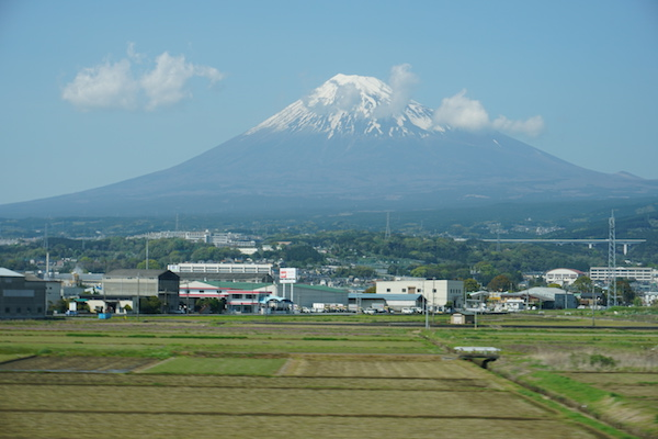 Mt Fuji from a bullet train